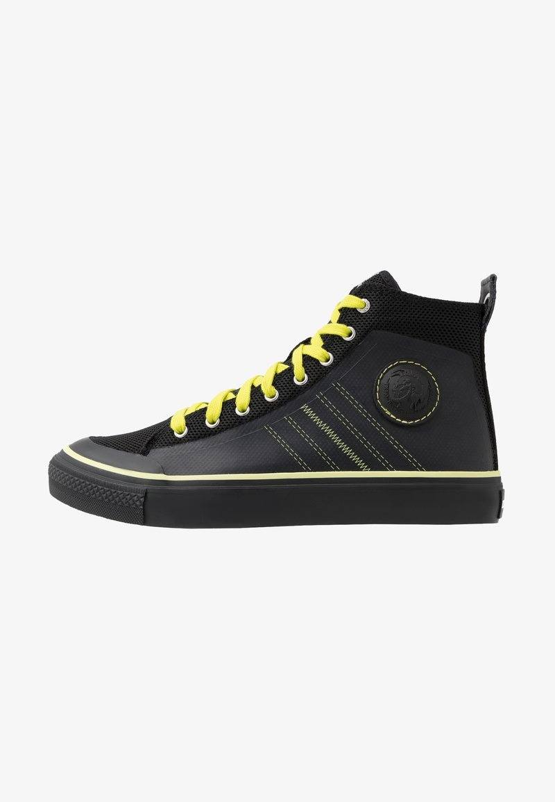 Diesel - S-ASTICO MC H - Sneakers high - black/sunny lime