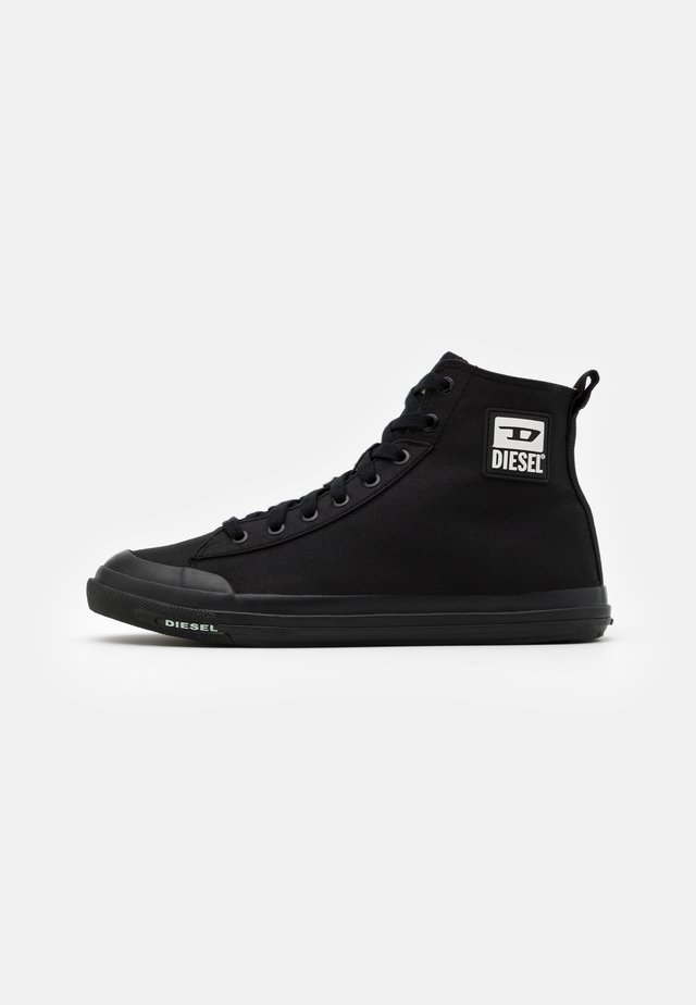ASTICO S-ASTICO MID CUT SNEAKERS - Korkeavartiset tennarit - black
