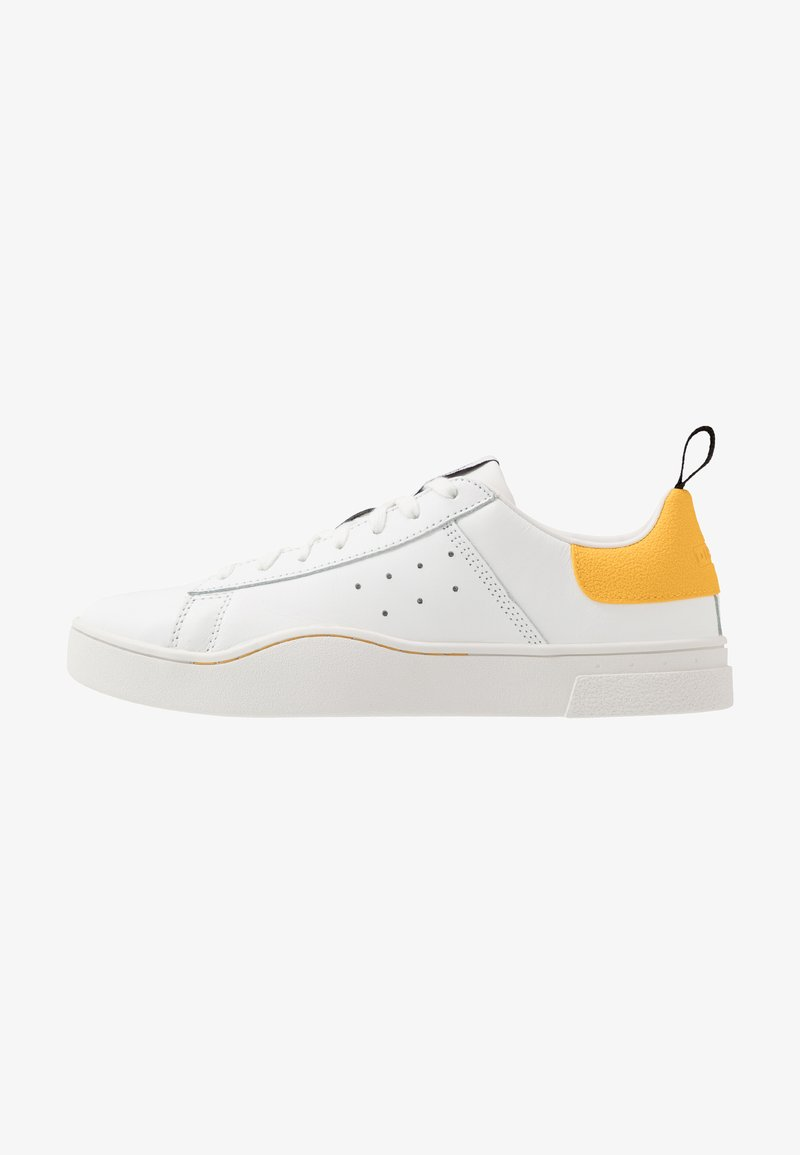 Diesel - S-CLEVER LOW - Trainers - white/lemon chrome