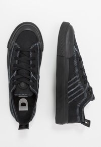 Diesel - S-ASTICO LOW LACE - Matalavartiset tennarit - black - 1
