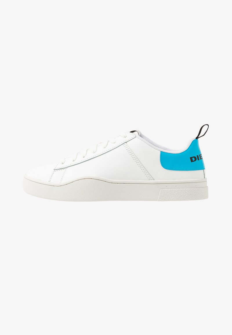 Diesel - S-CLEVER LOW LACE - Trainers - white/blue fluo