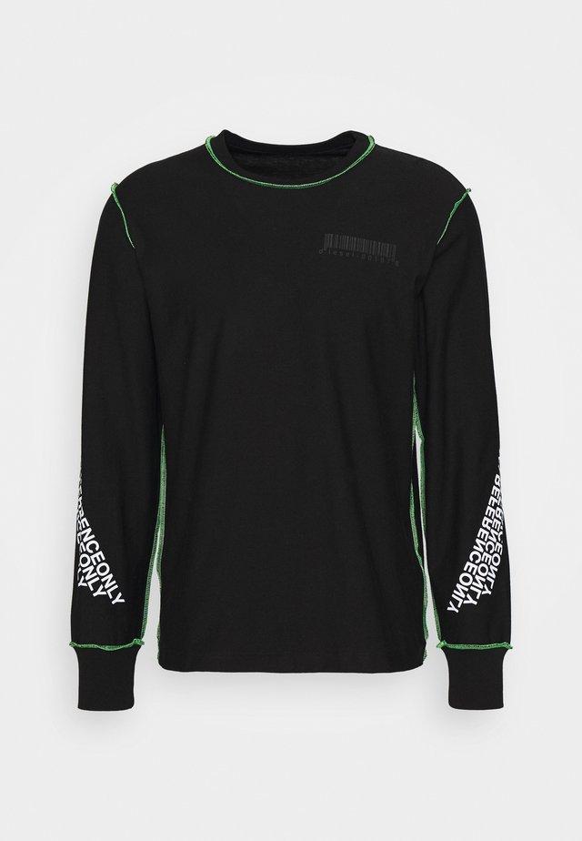T-JUSEAM-LS T-SHIRT UNISEX - Printtipaita - black