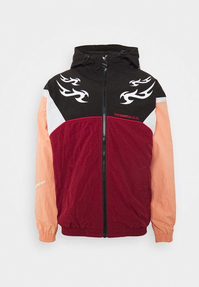 J-ETHAN JACKET UNISEX - Summer jacket - red/black/ white/ salmon