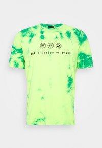 Diesel - T-JUST-SLITS-X86 UNISEX - T-shirts print - green lime tye dyed - 0