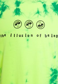 Diesel - T-JUST-SLITS-X86 UNISEX - T-shirts print - green lime tye dyed - 2