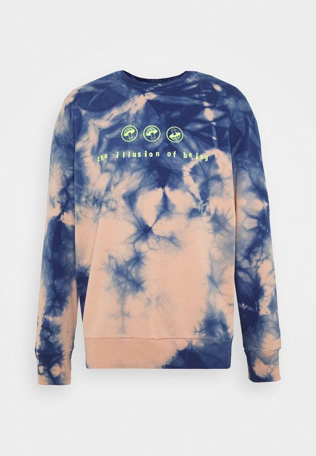S-BIAY-X10 SWEAT-SHIRT UNISEX - Sweatshirt - rose blue tye dyed