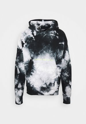 S-ALBYEL-X4 SWEAT-SHIRT UNISEX - Felpa con cappuccio - black grey tye dyed