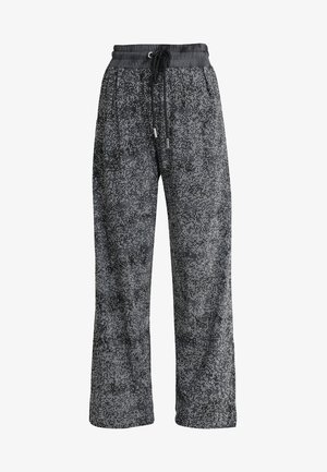 P-STRASS TROUSERS - Bukse - black/silver