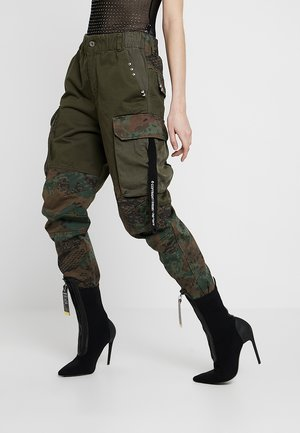 THENA TROUSERS - Tygbyxor - olive