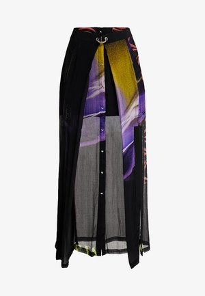 O-POPLIA SKIRT - Maxi sukně - black