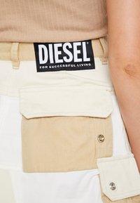 Diesel - O-AMATA-A SKIRT - Áčková sukně - beige/white - 5