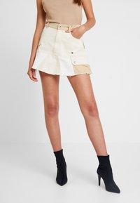 Diesel - O-AMATA-A SKIRT - Áčková sukně - beige/white - 0
