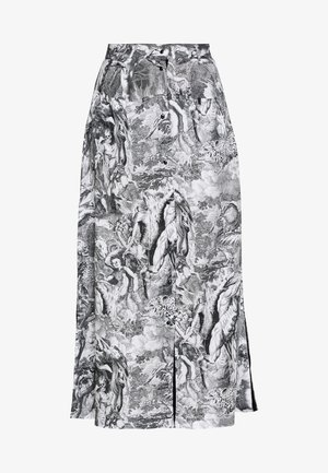 O-MOYA-B SKIRT - A-line skirt - grey/white