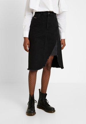 DE-SISIL SKIRT - Jupe trapèze - black