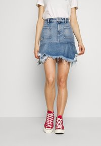 Diesel - BRYX SKIRT - Minikjol - blue denim - 0
