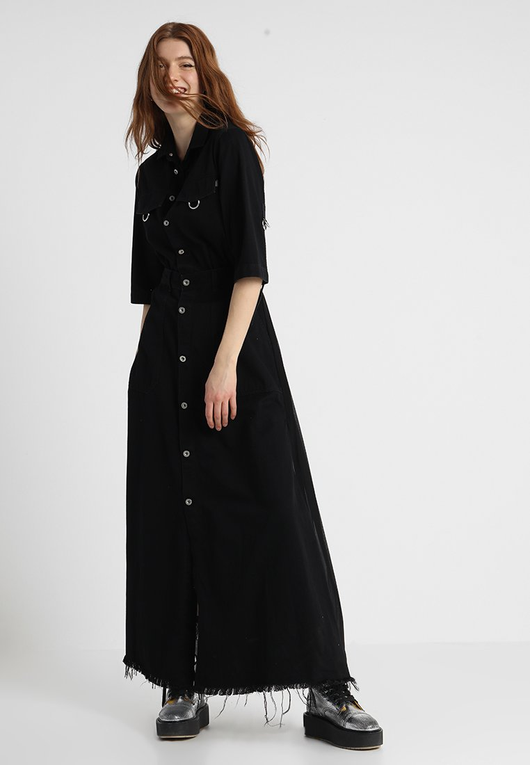 Diesel - DE-ISABELA DRESS - Maxiklänning - schwarz