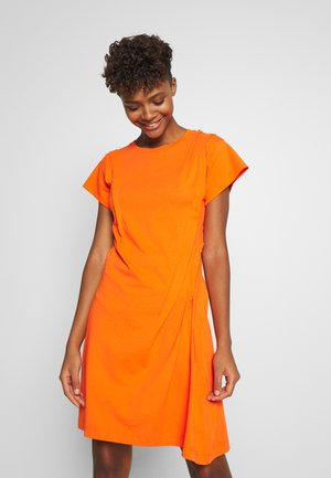 D-ATRIX DRESS - Jersey dress - orange