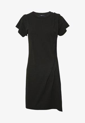 D-ATRIX DRESS - Robe en jersey - black