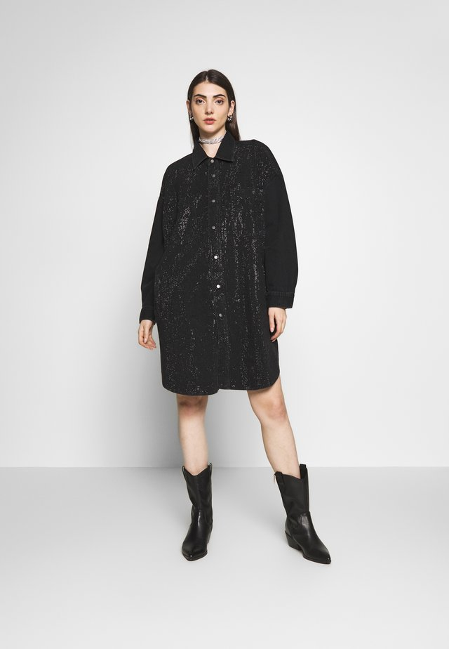 DRESS - Sukienka jeansowa - black