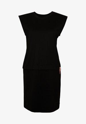 HATTER DRESS - Vestito di maglina - black