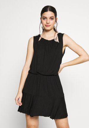 D-ROCKI DRESS - Sukienka z dżerseju - black