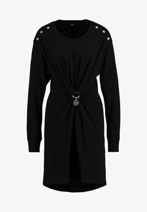DESH DRESS - Vestito di maglina - black