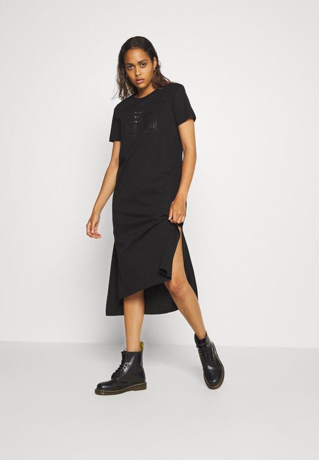 FELIX LONG DRESS - Vestito di maglina - black