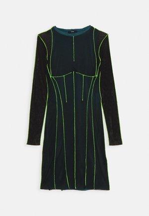 D VINA DRESS - Kjole - black/lemon