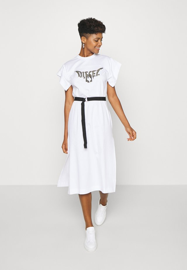 D-FLIX-C DRESS - Jerseyjurk - white