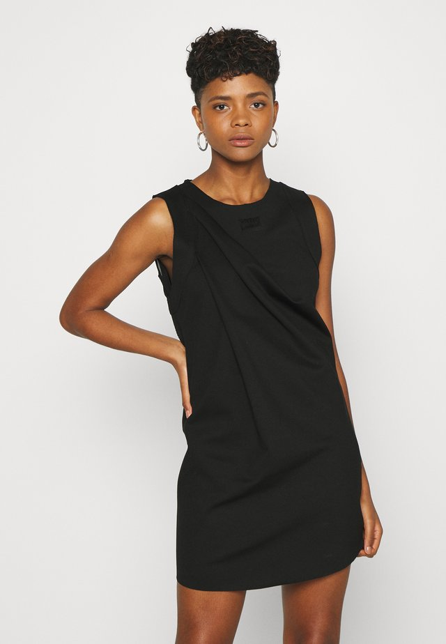 PLEADY DRESS - Vestido informal - black