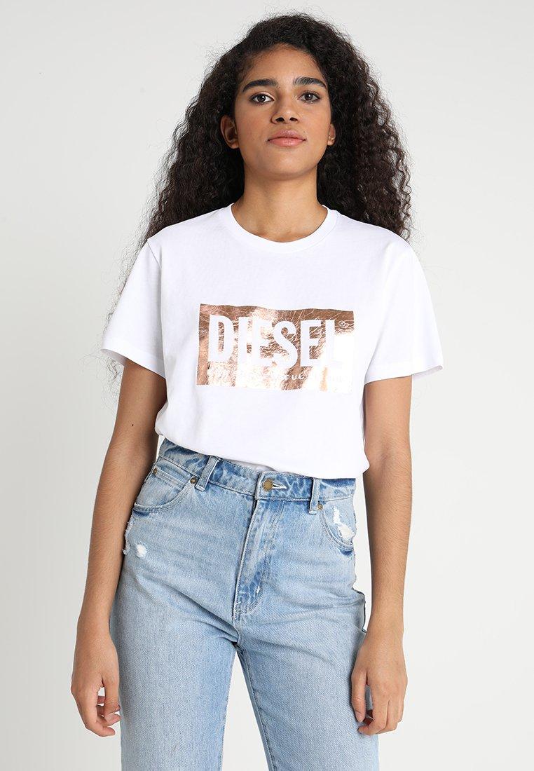 Diesel - T-FOIL - Print T-shirt - weiß