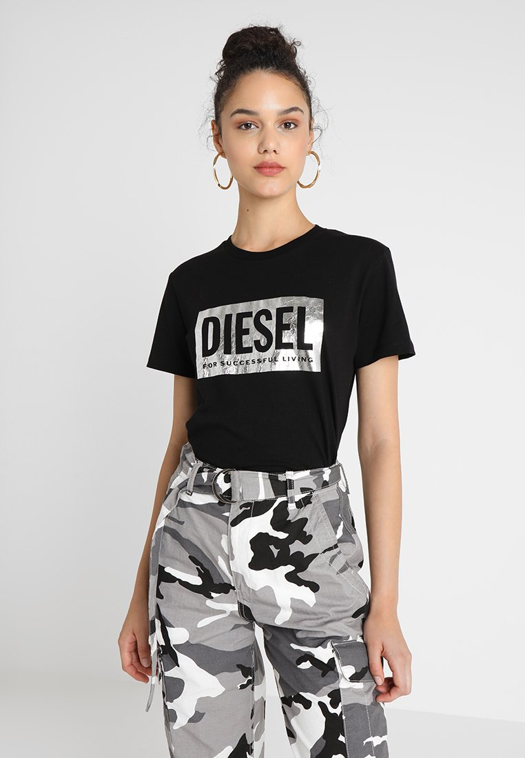 Diesel - T-FOIL - T-Shirt print - schwarz