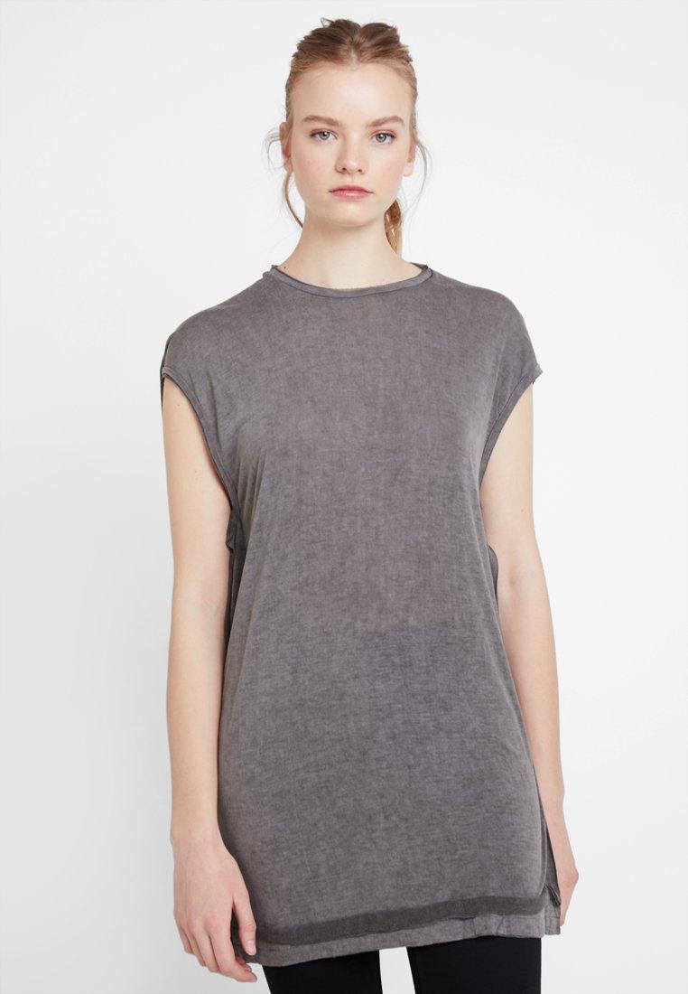 Diesel - T-SAVAH-A TANK-TOP - Print T-shirt - grey