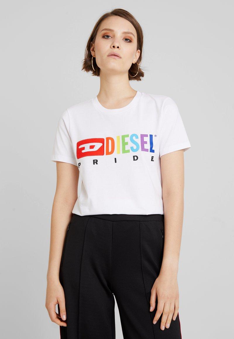 Diesel - PRIDE UFTEE SILY - T-Shirt print - white