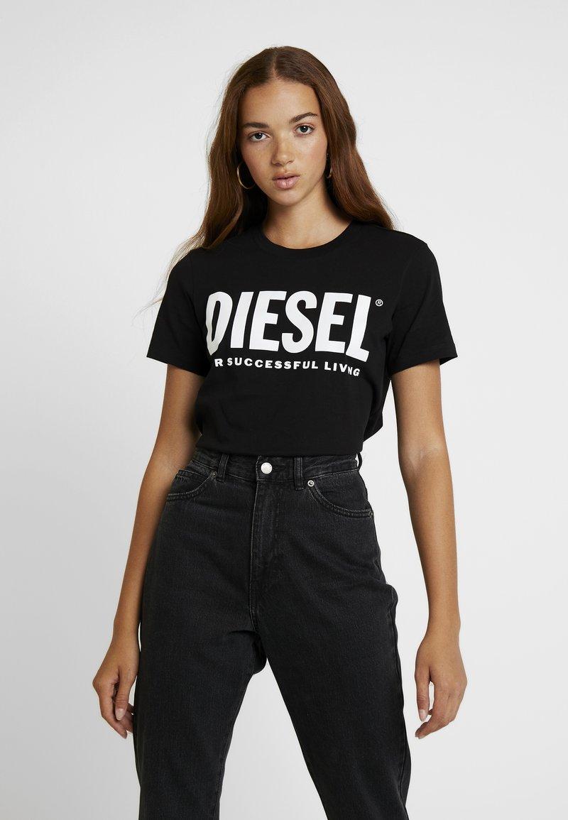 Diesel - T-SILY-WX MAGLIETTA - T-shirt con stampa - black