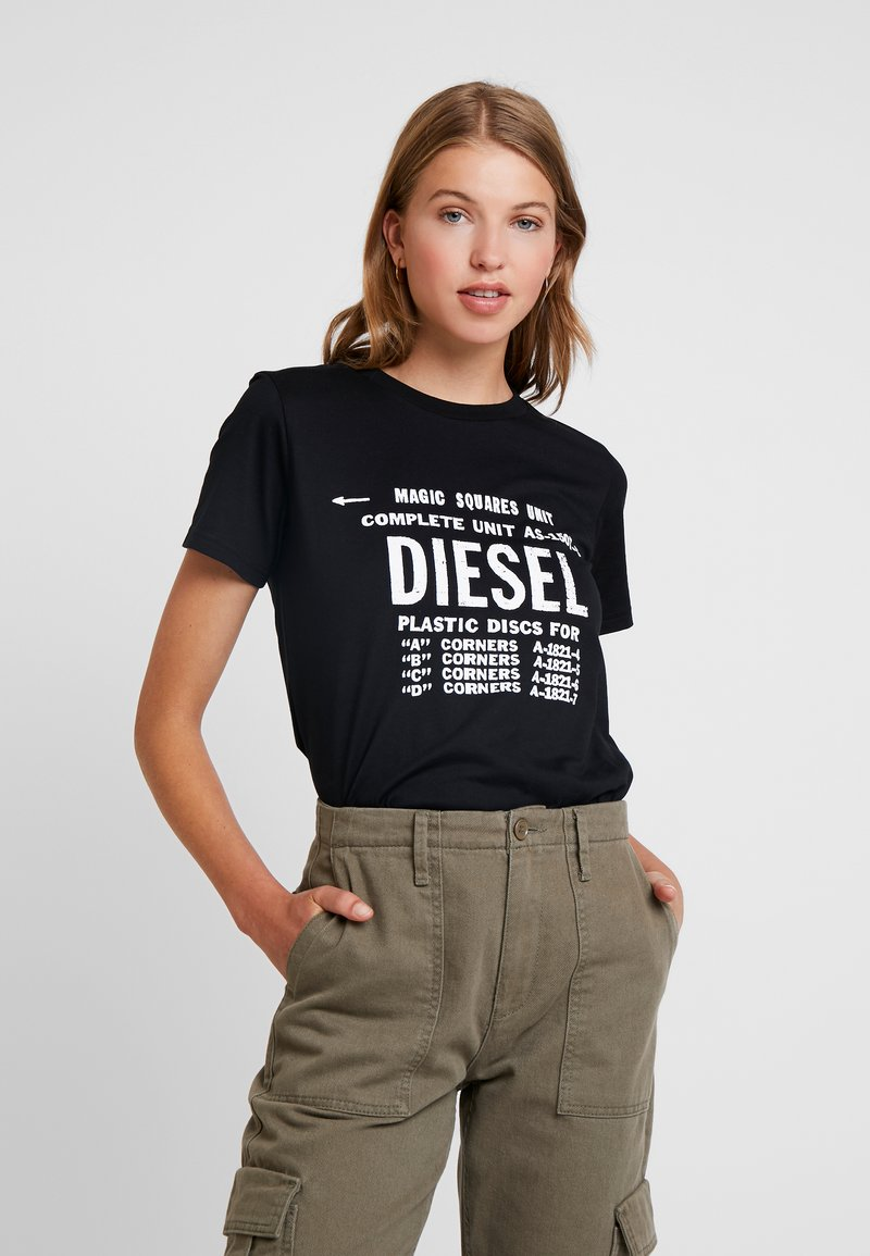 Diesel - T-SILY-ZF - T-shirts print - black