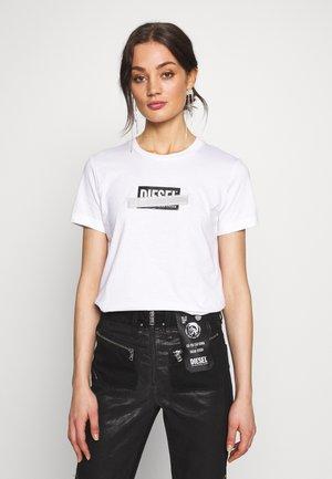 T-SILY-S2 T-SHIRT - T-Shirt print - white/black
