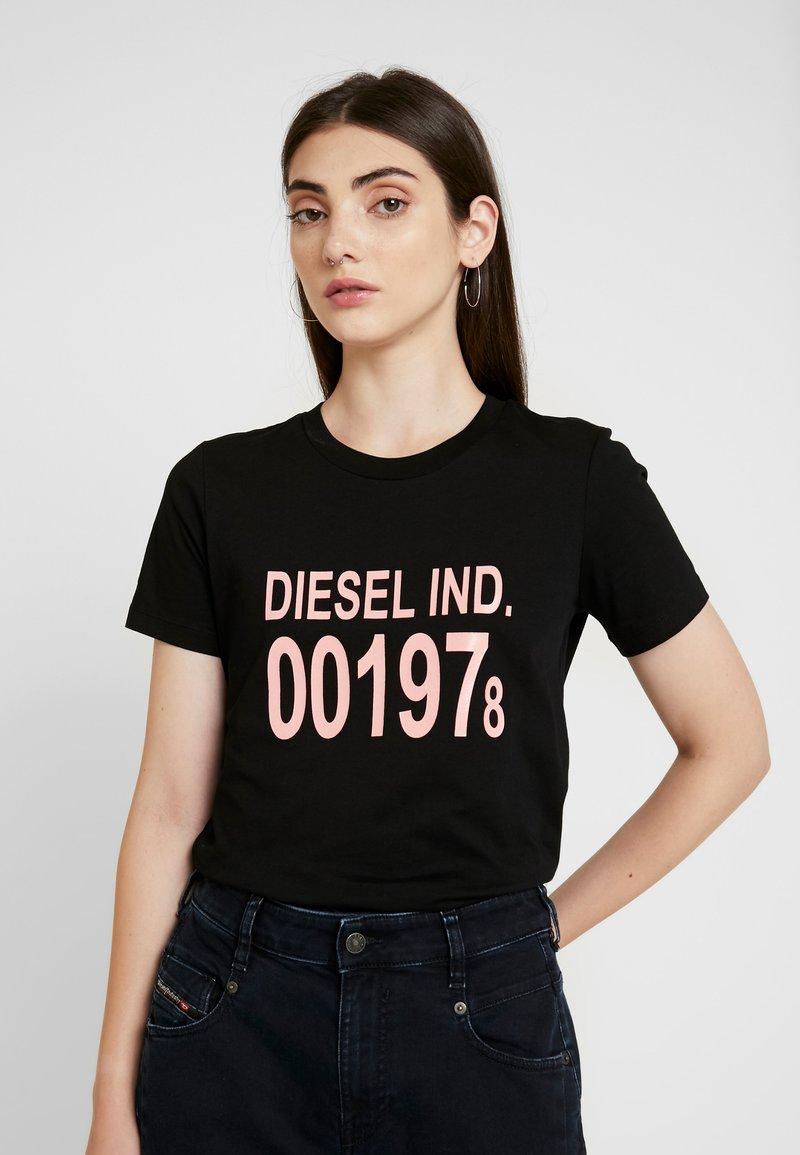 Diesel - T-SILY-001978 T-SHIRT - Triko spotiskem - black