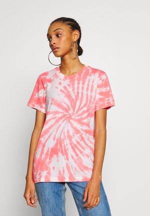 T-shirts print - white/red