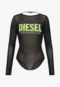 Diesel - UFBY VALERICK BODY - Top sdlouhým rukávem - black/neon - 3