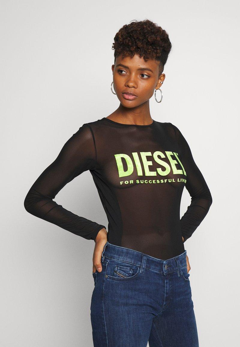 Diesel - UFBY VALERICK BODY - Top sdlouhým rukávem - black/neon