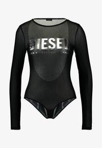 Diesel - UFBY VALERICK BODY - Maglietta a manica lunga - black/silver - 5