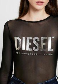 Diesel - UFBY VALERICK BODY - Maglietta a manica lunga - black/silver - 6