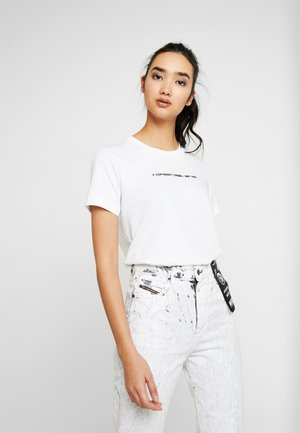 SILY COPY - T-shirt imprimé - white