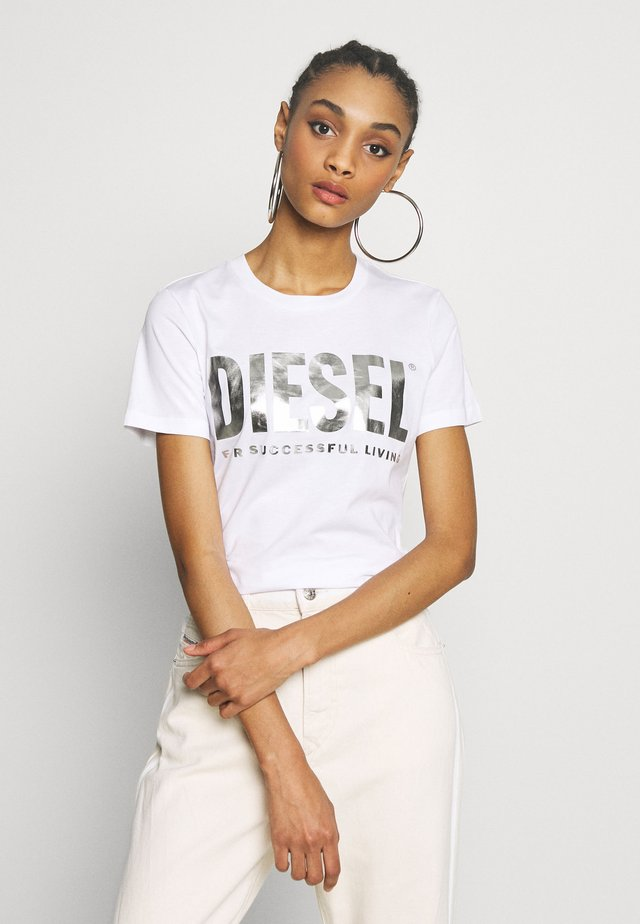 T-SILY-WX MAGLIETTA - T-shirt print - white/silver