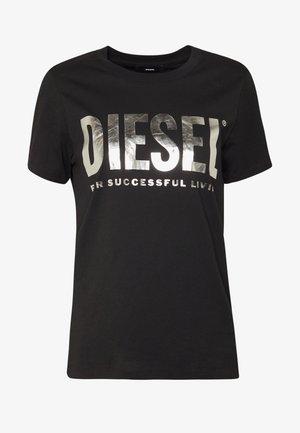 T-SILY-WX MAGLIETTA - Camiseta estampada - black/silver
