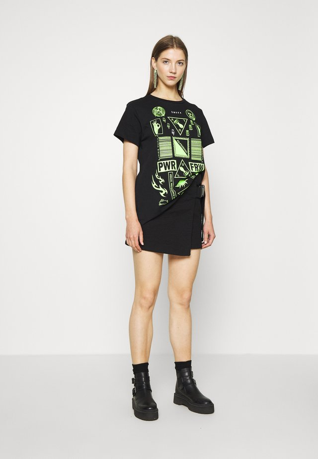 DARIA - Print T-shirt - black