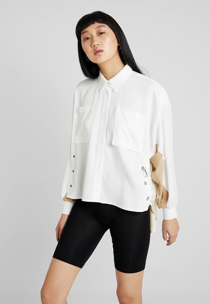 Diesel - LEXYS - Button-down blouse - beige/white