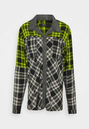 C-NILLA SHIRT - Overhemdblouse - grey/lemon