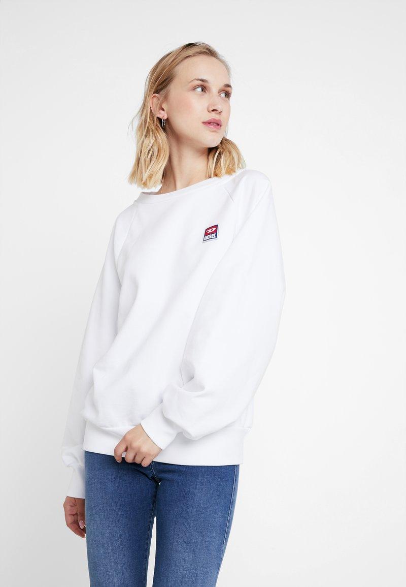 Diesel - F-HENNY-E PULLOVER - Sweatshirt - white